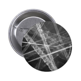 Black and white Jet Trails Pinback Button