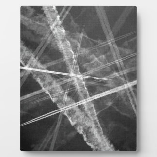 Black and white Jet Trails Plaque