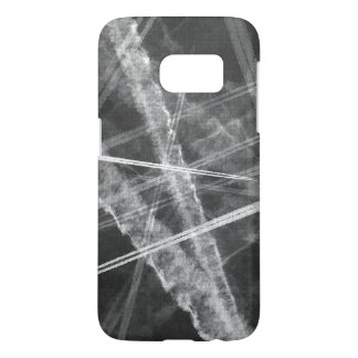 Black and white Jet Trails Samsung Galaxy S7 Case