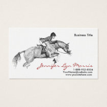 Black and White Jumer Horse Business Card