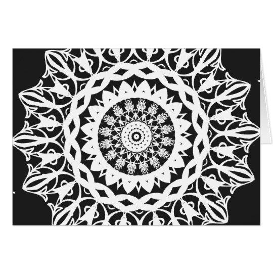 Black and White Kaleidoscope 1 Card
