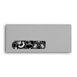 Black and white Kaleidoscope A9 Envelope