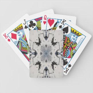 Black and white kaleidoscope graffiti bicycle playing cards