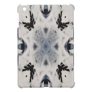 Black and white kaleidoscope graffiti iPad mini case