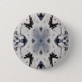 Black and white kaleidoscope graffiti pinback button