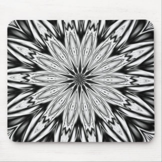 Black And White  Kaleidoscope Mouse Pad