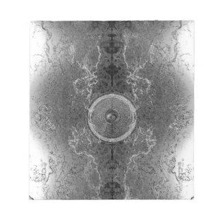 Black and white kaleidoscope music speaker memo note pads