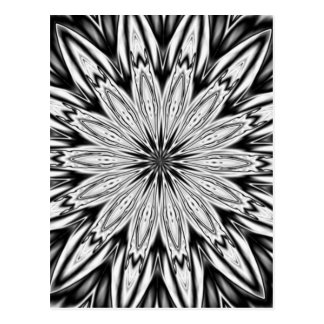 Black And White  Kaleidoscope Post Card