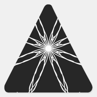 Black and White Kaleidoscope Star Triangle Sticker