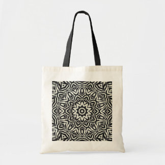 Black and White Kaleidoscope Tote Canvas Bag