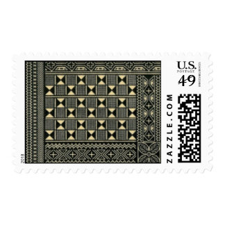black and white kente print stamp