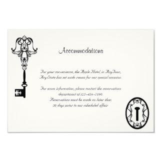Black and White Key Wedding Insert Custom Announcement