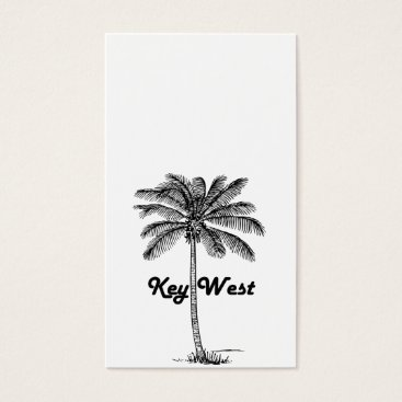 USA Themed Black and White Key West Florida & Palm design Business Card