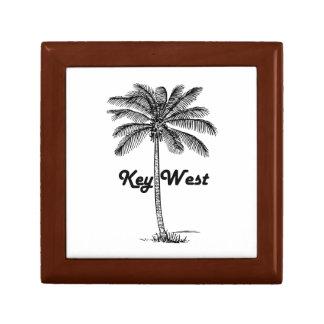 Black and White Key West Florida & Palm design Gift Box