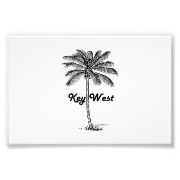 USA Themed Black and White Key West Florida & Palm design Photo Print