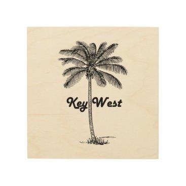 USA Themed Black and White Key West Florida & Palm design Wood Wall Decor