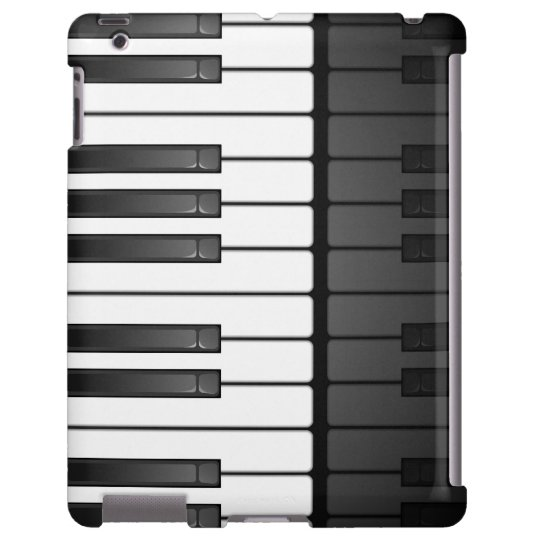 Black and White Keyboard Design iPad Case