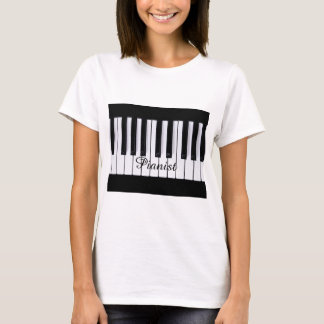 Black and White Keys Piano T-Shirt