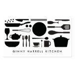 BLACK AND WHITE KITCHEN COLLAGE for Catering, Chef Business Card