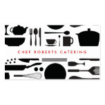 BLACK AND WHITE KITCHEN COLLAGE No. 3 Business Cards
