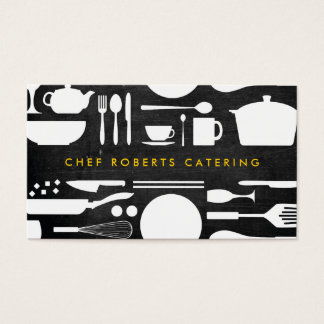 BLACK AND WHITE KITCHEN COLLAGE No. 4 Business Card