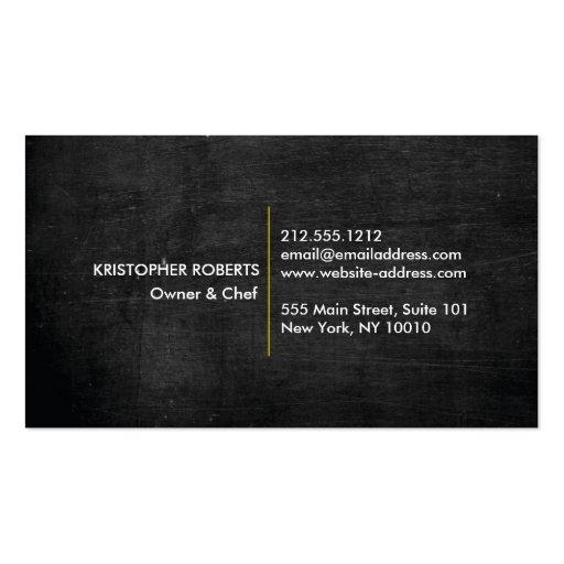 BLACK AND WHITE KITCHEN COLLAGE No. 4 Business Card Template (back side)