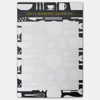 BLACK AND WHITE KITCHEN COLLAGE No. 4 Personalized Post-it® Notes