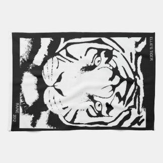BLACK AND WHITE KITCHEN TOWEL