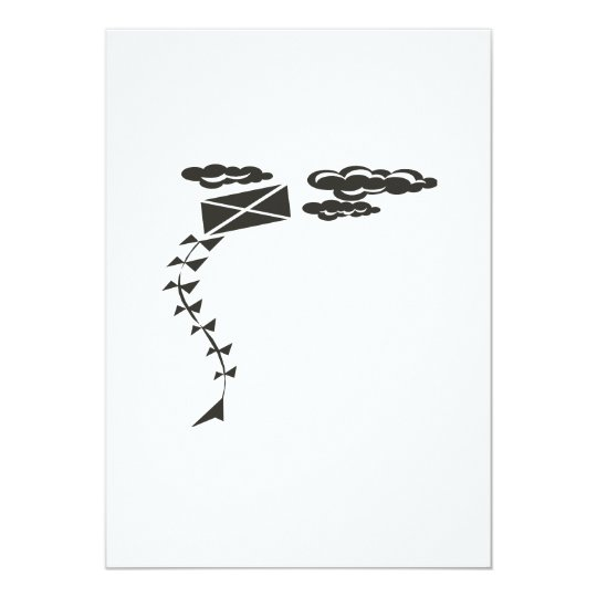 Black And White Kite Card