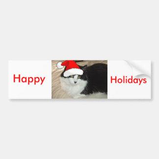Black and White Kitten Bumper Sticker