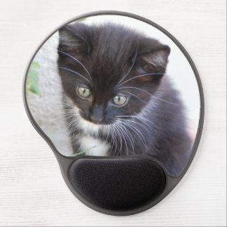 Black and White Kitten Gel Mouse Pad