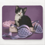 Black and White Kitten Mouse Pads