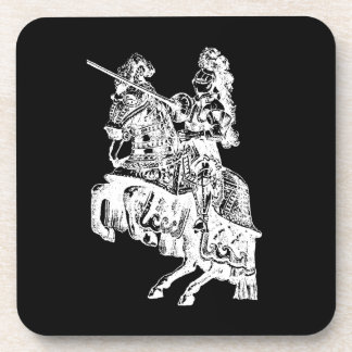 Black and White Knight Coasters