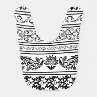 Black and White Lace Baby Bib