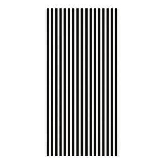Black and White Lace Cap Cabana Stripe Pattern Card