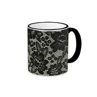 Black and White Lace Design Mug