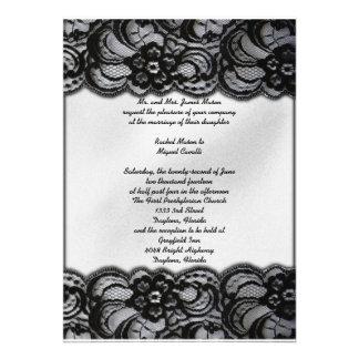 Black and White Lace Invites