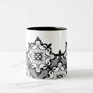 Black and White Lace Mug
