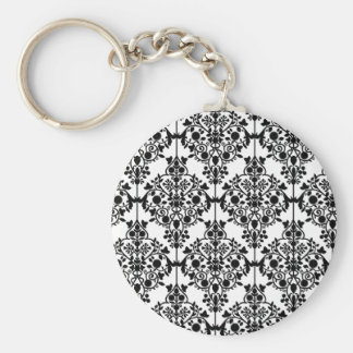 Black and White Lace Wallpaper Keychain