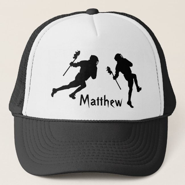 Black and White Lacrosse Sports Hat