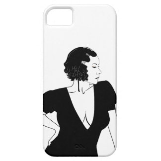 Black and White Lady posing phone case iPhone 5 Covers