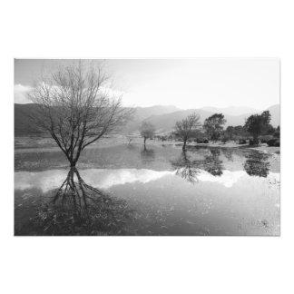 Black and White lake Photo