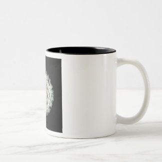 Black and White Lampwork Glass Coffee Mug Cup