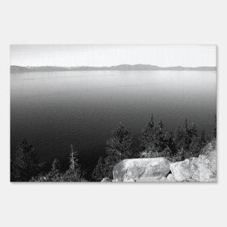 Black And White Landscape 15 Sign