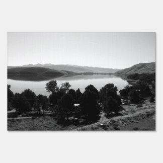Black And White Landscape 6 Yard Sign