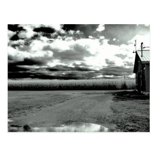 Black and White Landscape Country Style Post Card