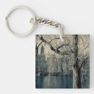 Black and White Landscape Photo Keychain