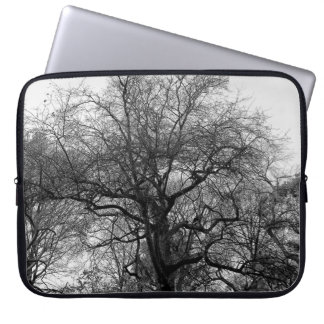 Black and White Landscape Photo Laptop Computer Sleeve