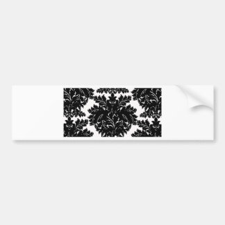 Black and White Large Damask Bumper Sticker