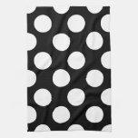 Black and White Large Polka Dot Kitchen Towel